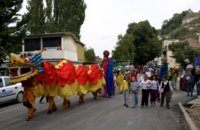 "Carnival Street Parade ""Give a Gift - be Blessed"" in Nikopol"